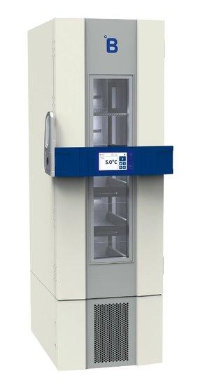 B Medical P400 medicijn / laboratorium koelkast DIN 58345 met glasdeur