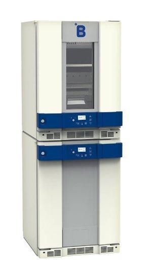 B Medical PF260 koel-vriescombinatie DIN 58345 met glasdeur
